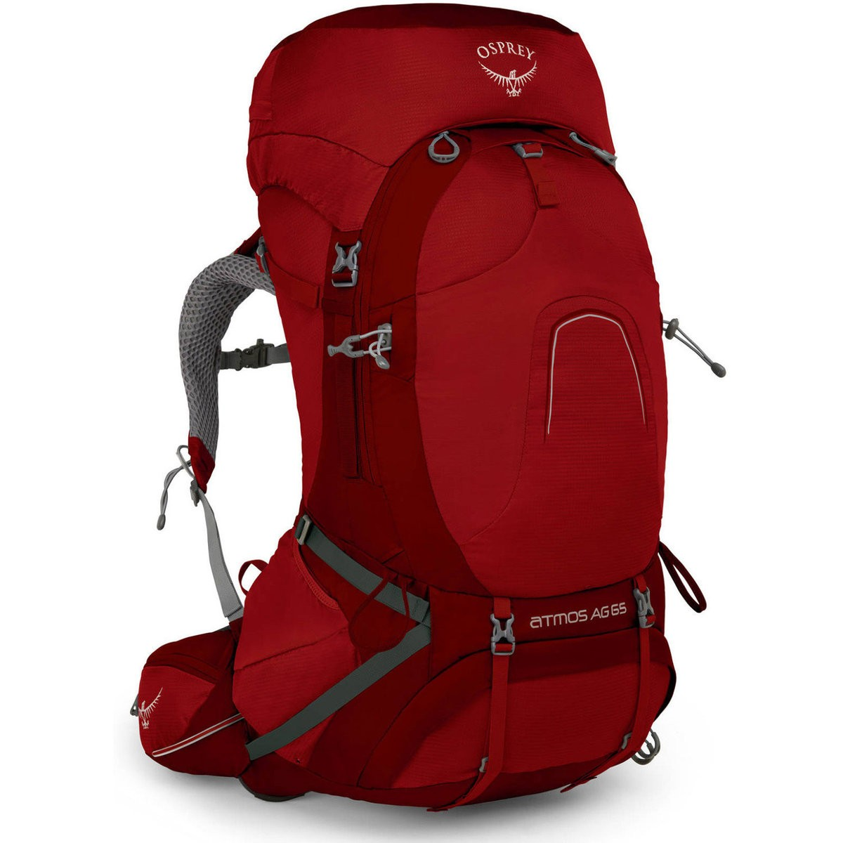 Hot Deals | Osprey ATMOS 65 AG BACKPACK LARGERIGBY RED