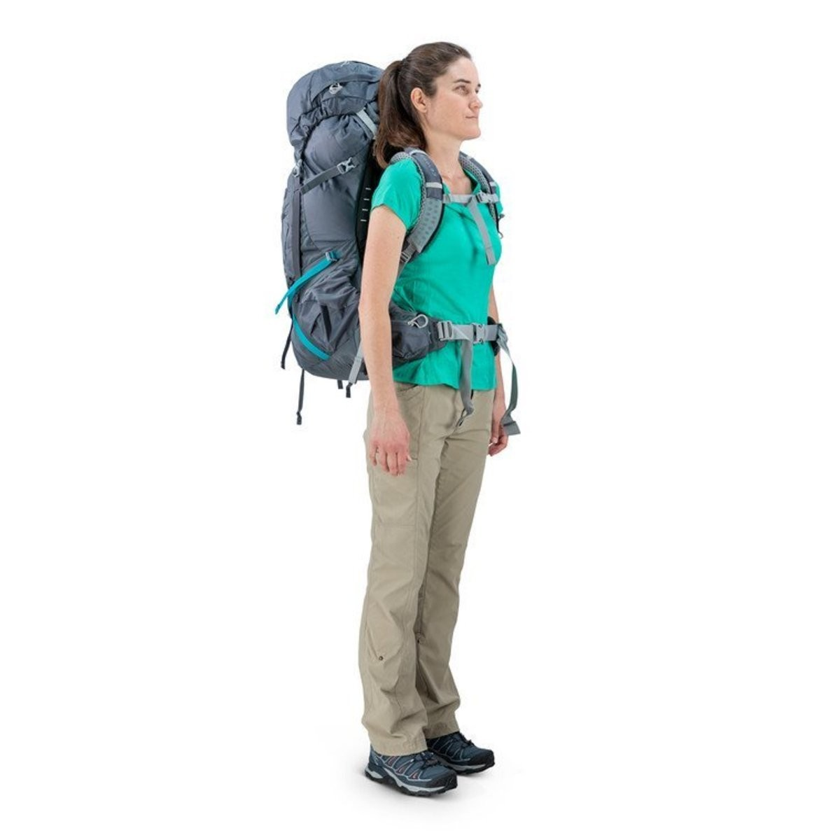 Hot Deals | Osprey AURA AG 65L HIKING BACKPACK – WOMENSVESTAL GREY